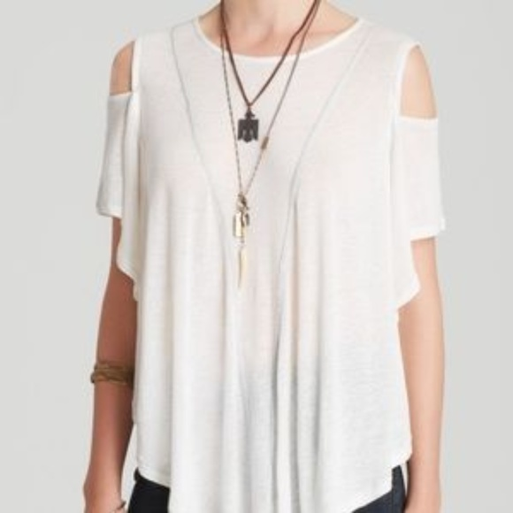 36d12d7d5826cb Free People Tops | We The Free Cold Shoulder Top White | Poshmark
